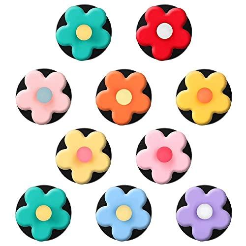 10 pezzi Clip presa d'aria fiori Clip deodorante auto Condizionatore d'aria per auto Decorazione d'interni Fascino carino Accessori per presa d'aria colorati per ragazze Donne (colore casuale)