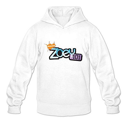 Zoey 101 Logo Geek 100% Cotton White Long Sleeve Sweatshirt For Mens Size L