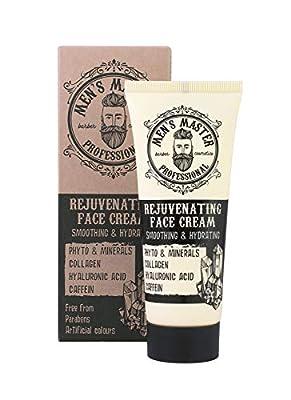 Rejuvenating Face Antiwrinkle Cream Cosmetics for Men, Parabens Free, 75 ml of Men's Master