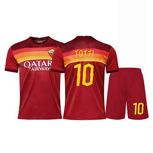 2020-2021 Herren Trikots Fußballtrikots 6 Strootman 10 Totti Trikots Shorts Anzug Retro Trikot Sportswear Adult/Kinderanzug Fans Trikots-red10-28