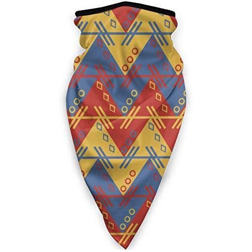 NA Masque de ski et moto coupe-vent Violet Taille unique Motif aztèque d'Amérique du Sud zig zag zigzag.