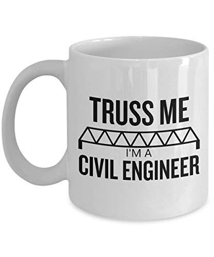 N\A Regalo de Ingeniero Civil - Truss Me - Regalo Divertido - Taza de café