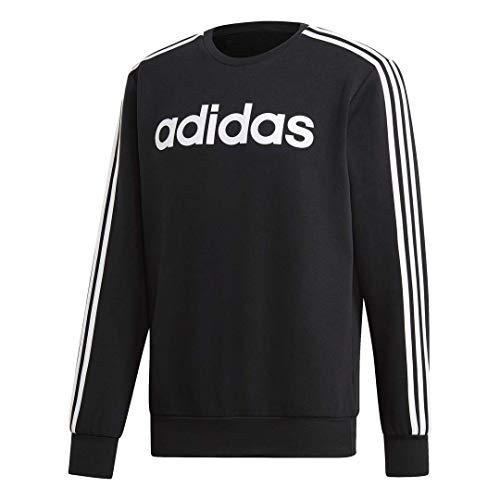Adidas Retro 3 Stripes Black Sweatshirt for Men, XS to 3XL