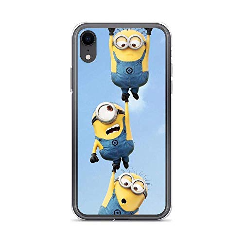 Compatible con iPhone 7 Plus/8 Plus Case Hold Up Trio Minions American Animated Movies Pure Clear Phone Cases Cover