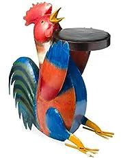 XIAOLONGWANG Colorida Mesa Auxiliar De Resina con Forma De Cerdo, Escultura De Animales para JardíN, Patio, DecoracióN De Paisajismo, JardíN, BalcóN, Terraza Pollo