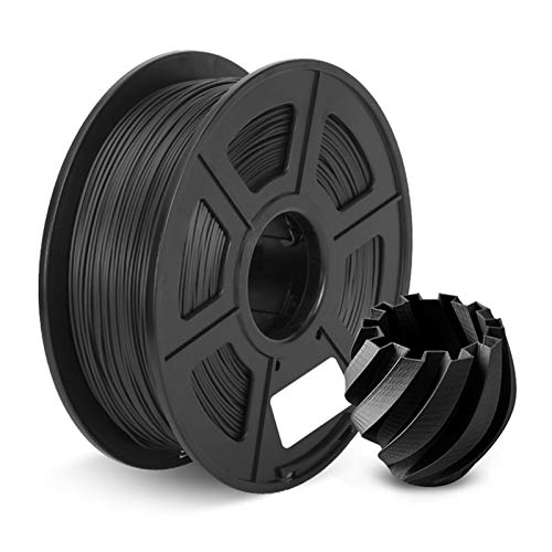 1KG(2.2lbs) PLA Plus 3D Printer Filament, 1.75MM+/-0.02MM Material High Strength, for 3D Printer Plastic Materials (Color : PLA Plus Black)