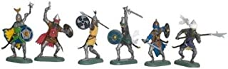 Britains Deetail Toy Soldiers Knights Saracen Set #2 Collectible Figures Set of 6 Plastic Figures on Metal Bases - Use as Medieval Knights, Crusades, Vikings, Romans