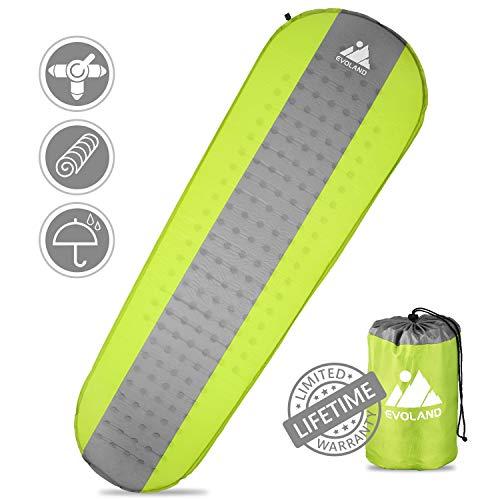 AGM - Materassino isolante ultraleggero, resistente all'umidità, da campeggio, gonfiabile, per esterni, campeggio, spiaggia, viaggi, giallo.
