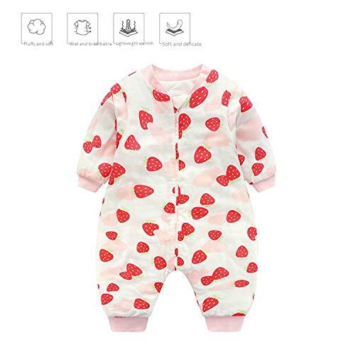 MMYYIP Baby Lange Mouw Winter Kinderen Slaapzak, Hond Patroon Baby Slapen met voeten Jonge Meisjes Katoen Unisex hele jaar pyjama.