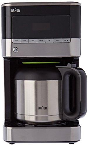 Braun kf7125bk cafetera de 12tazas programable acero inoxidable/negro 1000W
