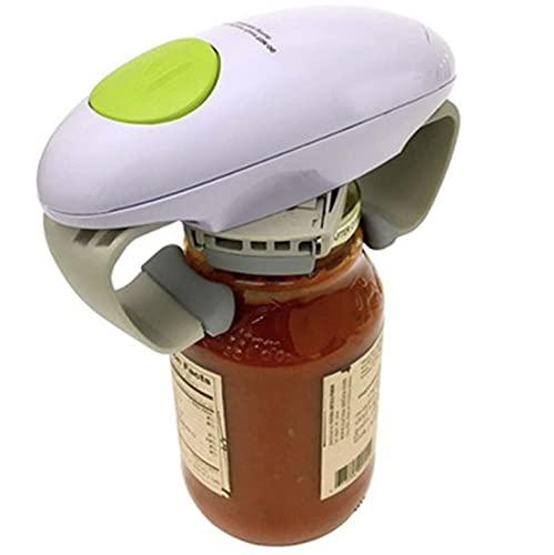 Apribottiglie elettrico apriscatole apribottiglie, bordo liscio portatile One Touch apertura automatica gadget da cucina a batteria, funzionamento a m