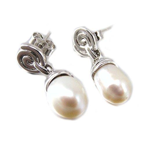 Les Trésors De Lily [F6185] - Ohrring silber 'Pearl Beauty' weiß.