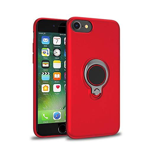 Jeack Coque de protection en TPU pour iPhone 6S avec anneau 360 degrés et support magnétique pour voiture