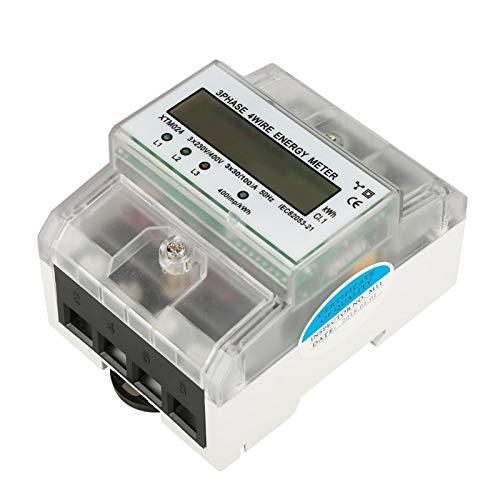 Medidor eléctrico trifásico Medidor eléctrico de carril DIN de bajo consumo de...