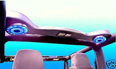 Soundbar Compatible for Jeep Wrangler with LED Lights Fits Cj Tj Yj 2 Built in Speakers.