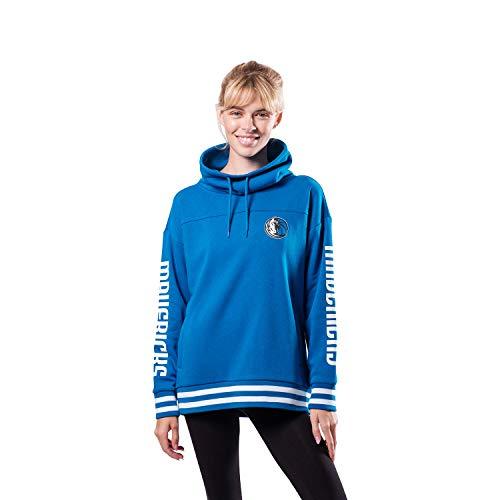 Ultra Game NBA Dallas Mavericks Womens Quarter Zip Fleece Pullover Sweatshirt with Zipper, Team Color, Large