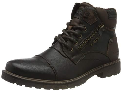 Tom Tailor Mens 9082103 Mid Calf Boot Flat Boot, Black, 42 EU