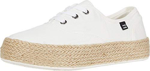 Billabong Women's Spring Tide Sneaker, White Cap, 32