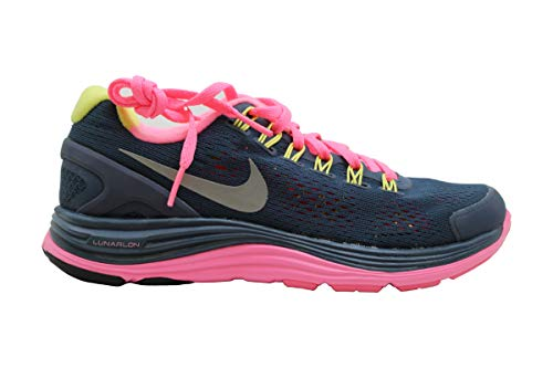 Nike Womens Lunarglide- 4 Fabric Low Top Lace Up Running Sneaker, Blue, Size 5.5 -  LunarGlide+ 4