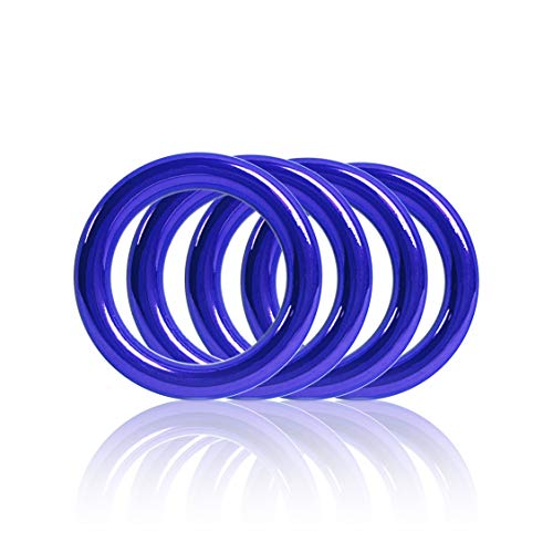 Ganzoo O - Ring aus Stahl, 4er Set, DIY Hunde-Leine/Hunde-Halsband, nichtrostend, Ideal mit Paracord 550, geschweißt, Farbe: blau