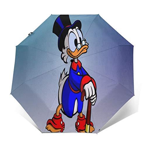 Paraguas Anti-Ultravioleta Compacto de Viaje Triple de Apertura/Cierre automático, sombrilla Plegable a...