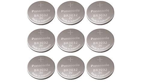 Panasonic Br3032 Br 3032 Lithium 3v Battery (9-Pack)
