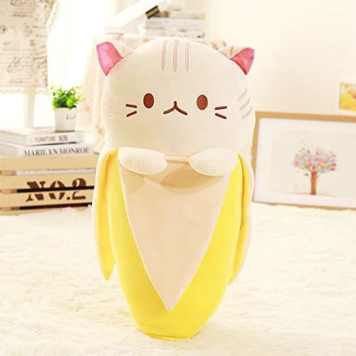 N / A Le Chat créatif dans Le Jouet en Peluche à la Banane, Le bébé Peut serrer dans Ses Bras la poupée de Chat en Forme de Banane, Le Jouet en Peluche Hello Kitty aux Fruits 60 CM