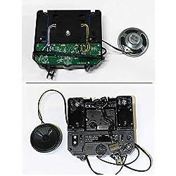 Rhythm/Howard Miller 354481 Replacement Battery Quartz Clock Movement by QWIRLY - Driven Mechanism Kit Westminster, Ave Maria, Bim-Bam Chime with Pendulum, 12.2 mm Stem Length
