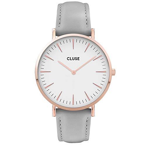 CLUSE Reloj Analógico para Mujer de Cuarzo con Correa en Cuero CW0101201007