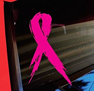 Breast Cancer Pink Ribbon Vinyl Decal Sticker 100% Waterproof