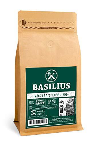 Basilius RÖSTERS LIEBLING Espresso | Vollautomatenkaffee | Ganze Espressobohnen | Creme-Kaffee | 40% Arabica, 60% Robusta (500)