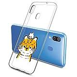 Oihxse Funda Samsung Galaxy A8S, Ultra Delgado Transparente TPU Silicona Case Suave Claro Elegante Creativa Patrón Bumper Carcasa Anti-Arañazos Anti-Choque Protección Caso Cover (A1)