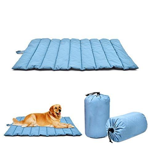 UKCOCO Materasso per cani Materasso per cani cuscino da letto impermeabile grande della estera del Cane per il viaggio all' aria aperta, Blu