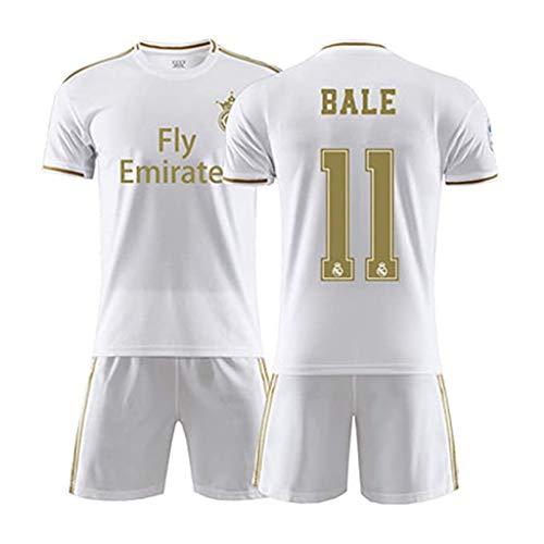 2020 Real Madrid Club Gareth Bale # 11 Kinder Fußball Fußball Trikot Geschenkset Jugendgrößen Fußball Trikot Shorts-D-XL