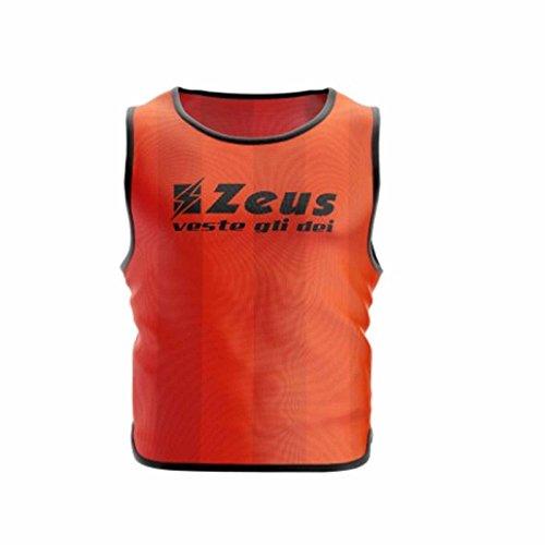 Zeus 10 Pezzi Casacca Promo Pettorina Allenamento Ginnastica Training Corsa Fitness Palestra Calcio Calcetto (Confezione 10 Pezzi) (Senior, Arancio)