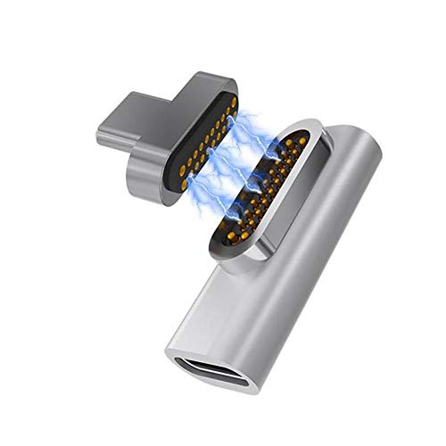 smileyshy Type C 3.1 Adapter USB C Magnetic Adapter 20-Pin Magnet to USB C 3.1 Converter Adapter Support 86W PD or Book Pro15