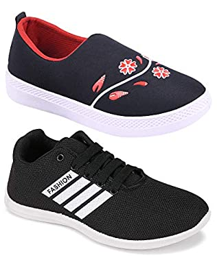 Camfoot Women's (9041-5047) Multicolor Casual Sports Running (Set of 2 Pair)
