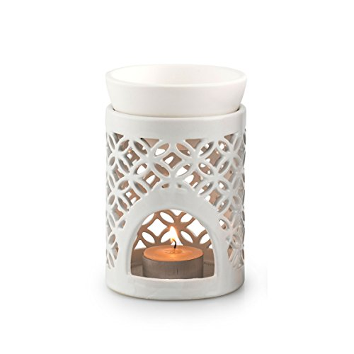 Pyjoma Duftlampe, Keramik, weiß, 12 x 12 x 12,5 cm
