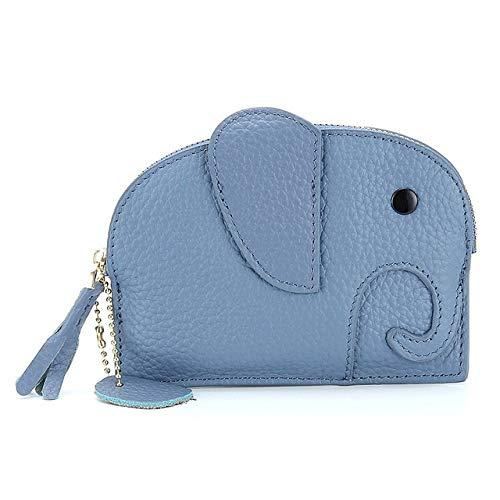 HAKFV Auto sleutelhanger Mini Olifant Ontwerp Vrouwen Coin Card Bag Kleine Lederen Vrouwelijke Handtas Zachte Koeienhuid Dames Portemonnee