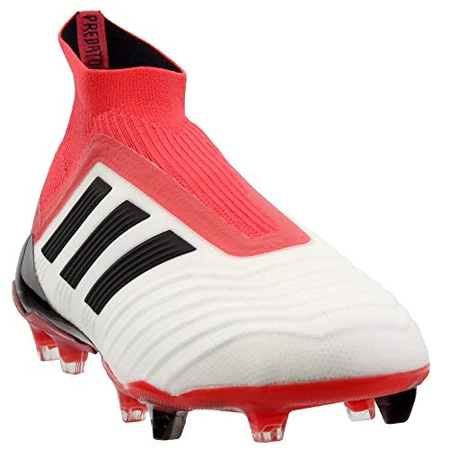 adidas 18+ FG Soccer Cleat, 9.5 D(M) US, Footwear White/Core...