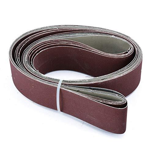 WHKKLN Schleifpapierschleifer Schleifband Ersatz 6er 2X72 Schleifband mit feiner Körnung
