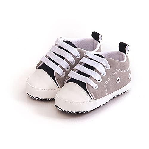 FURONGWANG6777BB Zapatillas de cuna para bebés y niñas, con suela suave, antideslizante, para recién nacidos, de 0 a 6 meses, color: H)