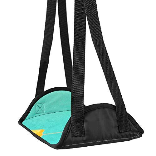 Fußstütze, lustiges Zitrone mit Regenschirm, Fußhängematte für Flugreisen, Flugzeug, Büro, unter dem Schreibtisch, Fußstütze, Reisezubehör, höhenverstellbar