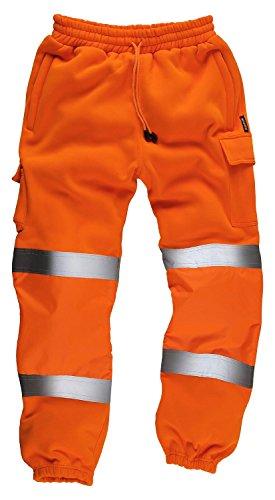 StandSafe Jogginghose HV021 mit Reflektorstreifen für erhöhte Sichtbarkeit, Gr. XL, Orange