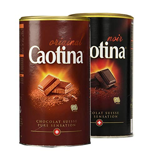 Caotina Original chocolate box noir + leche entera, 2er Pack, (2x500g)