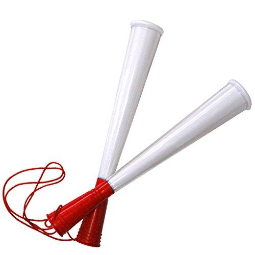 [プロモ] クリア ツイン メガホン (赤色) 自作可能 [サッカー スポーツ 応援 グッズ ] 体育祭 イベント