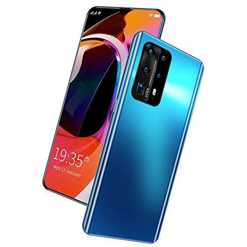 Zhangan SIM Free Smartphone, 5G Android 10 Ohne Vertrag Handys, Dual SIM, Dreifachkamera, 5000 MAh, 6.6Zoll Bildschirm, Face ID, Fingerprint, Bluetooth, WiFi, Midnight Black