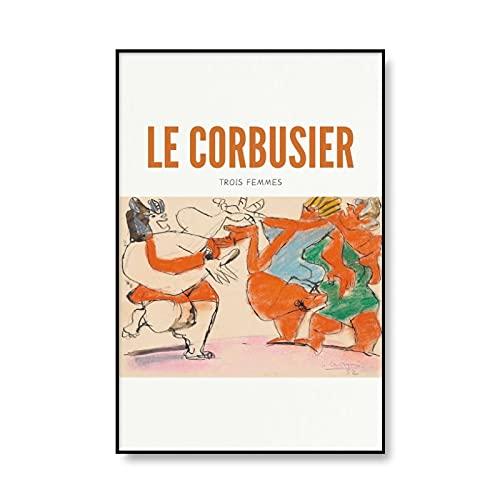 Cartel de exposición de arte antiguo Francia Le Corbusier Impresión abstracta Cubismo Cuadro de arte de pared Familia Sin marco Lienzo Pintura A2 60x90cm