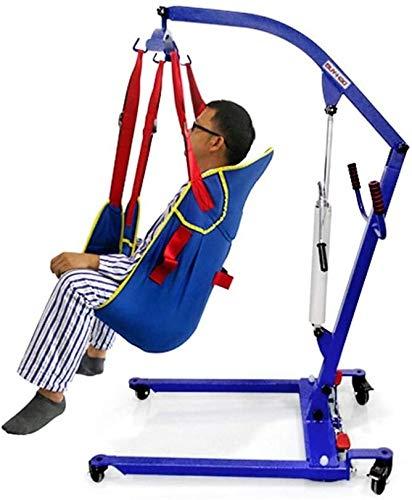 Máquina manual hidráulico de transferencia de Elevación paciente gancho giratorio durable de Transferencia a la cama con silla de ruedas for personas mayores de enfermería a los minusválidos A