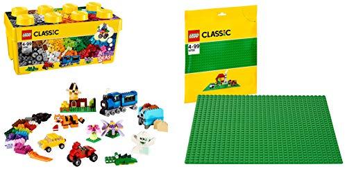 LEGO Classic Scatola Mattoncini Creativi, 10696 & Base Verde, 10700